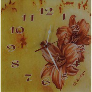 Unikatna stenska ura – Cvetje