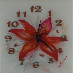 Unikatna stenska ura – Cvet