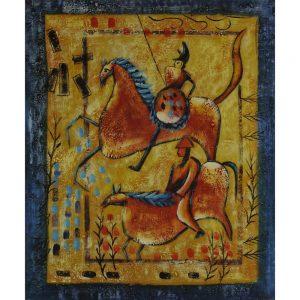 Slika na platnu – Jezdeci