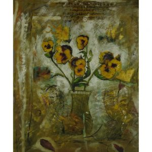 Slika na platnu – Cvetje v vazi
