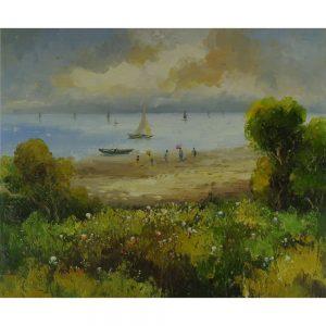 Slika na platnu – Ob jezeru