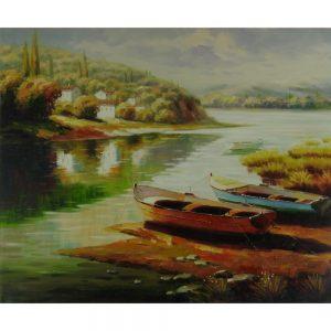 Slika na platnu – Ob reki