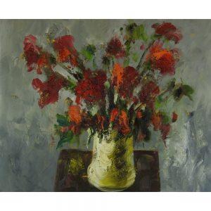 Slika na platnu – Cvetlično tihožitje